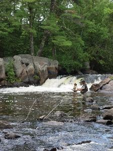 Fly fishing on the Peshtigo River