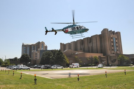 """Air Reach"" is our helicopter service that reaches our sister hospitals in 15-20 minutes by air."