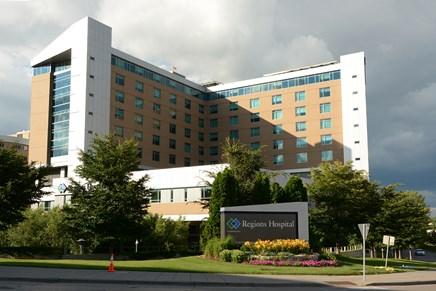 Regions Hospital in downtown St. Paul, MN