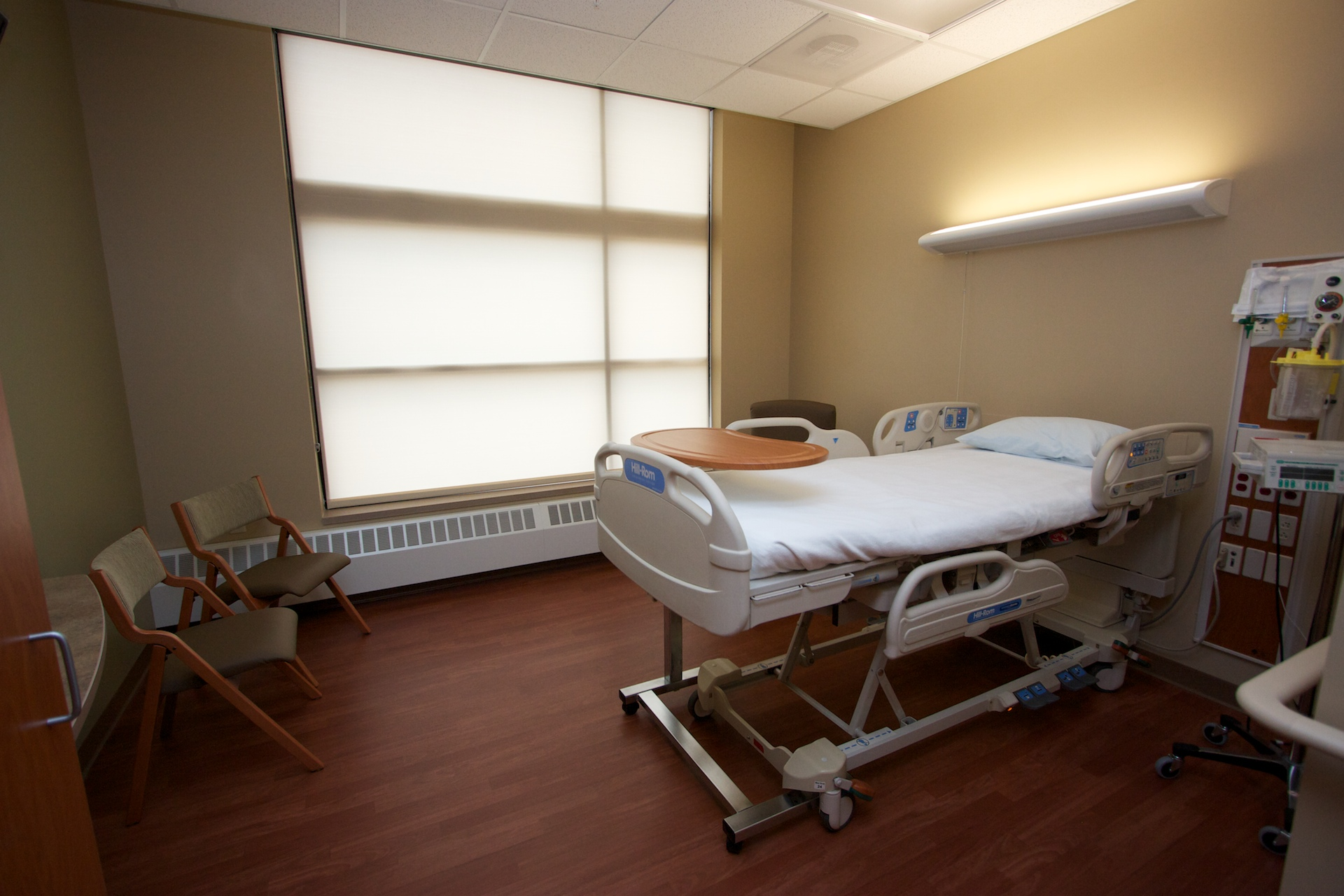A private Med Surg room...one of 44 beds in Med Surg dept & 4 beds in ICU.