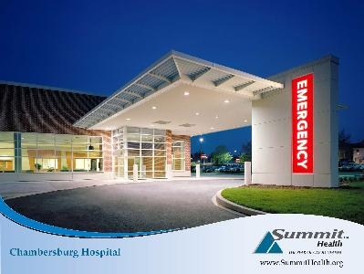 Emergency Entrance at Chambersburg Hospital.