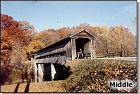 Visit one of our covered bridges