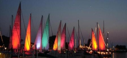 Catawba Island Club - lit sailboats