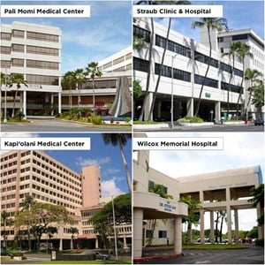 The four Health Care Facilities of Hawaii Pacific Health!