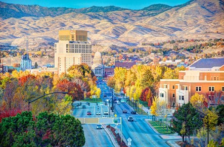 Downtown Boise in the Fall