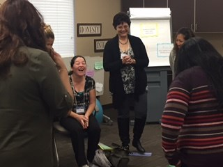 PCHC has the only CenteringPregnancy program in southern Colorado. Here, one of the groups meeting